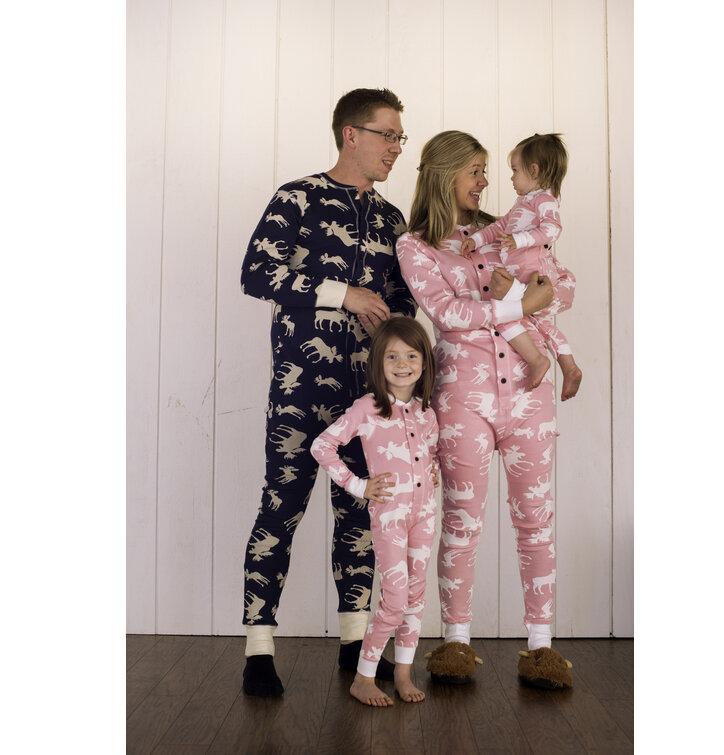 030aa20248 Lifestyle fotó Egyrészes Kék Gyermek Pizsama – Jávorszarvasok – Rózsaszín -  Csecsemő