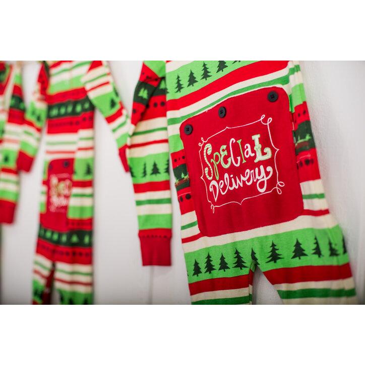2807747c6 Lifestyle foto Detské Jednodielne Pyžamo- Vianočné Pohodlie- Dieťa