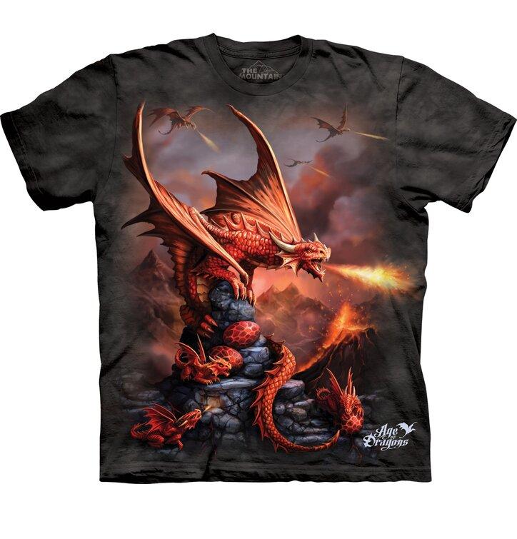 Dětské tričko s krátkým rukávem Útok draků