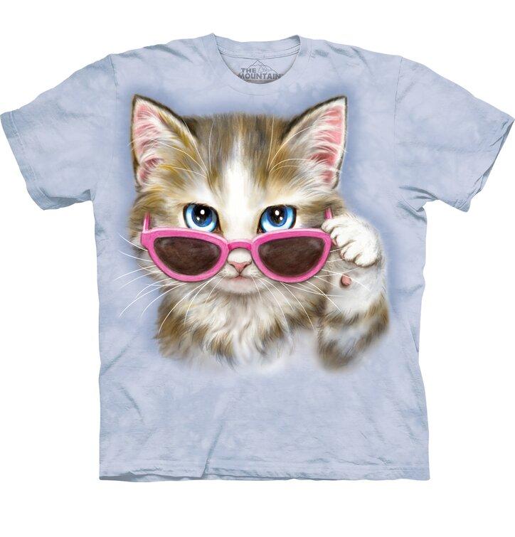 Detské tričko s krátkym rukávom Mačka v okuliaroch