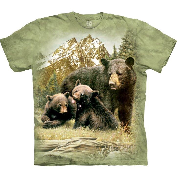 Dětské tričko s krátkým rukávem Medvědice s mláďaty