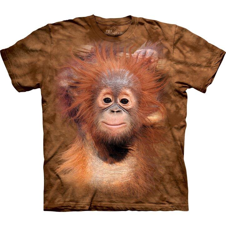 Kids' T-shirt with Short Sleeve Baby Orangutan