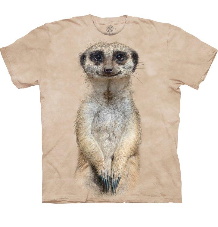 Detské tričko s krátkym rukávom Pohľad surikaty