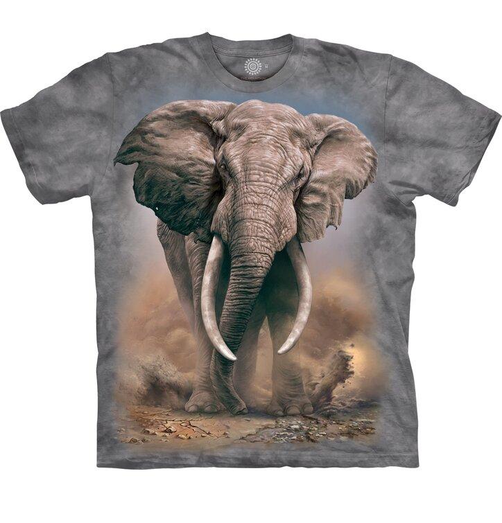 Foto Dětské tričko s krátkým rukávem Rozzuřený slon 34f592e4be