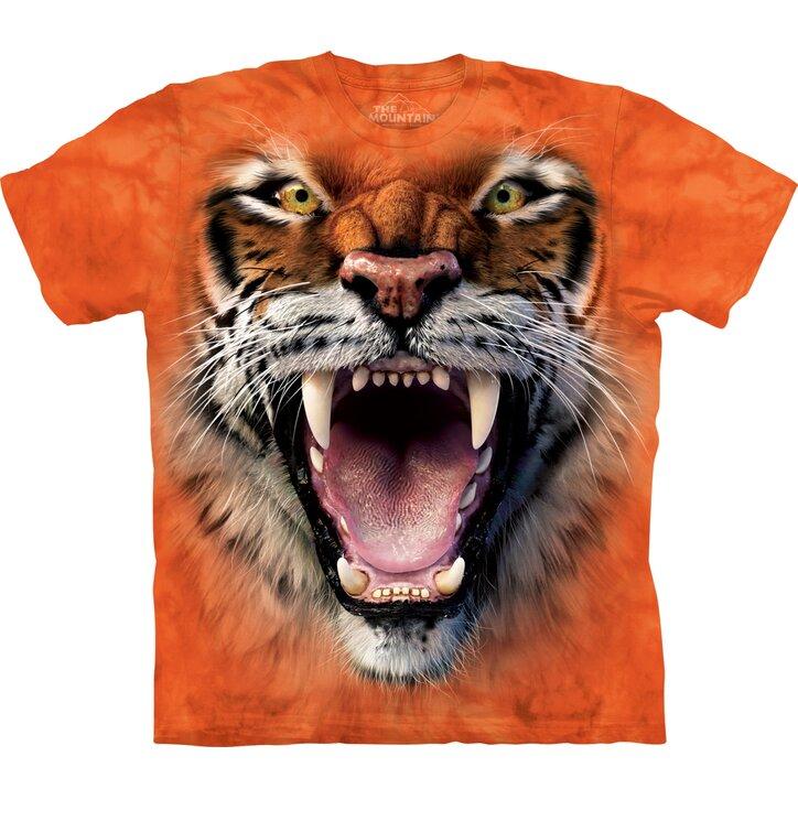 Rövid ujjú gyerek póló Tigris üvöltés