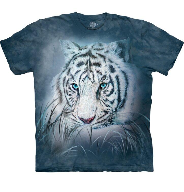 Detské tričko s krátkym rukávom Pohľad bieleho tigra