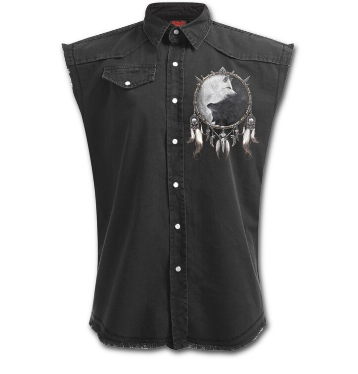 Košeľa bez rukávov Plus Size Vlčia dvojica