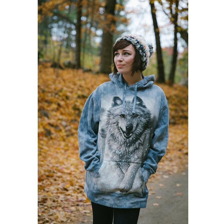 Potěšte se tímto kouskem Dedoles Mikina s kapucí Bílý vlk aff4b5ed1ce