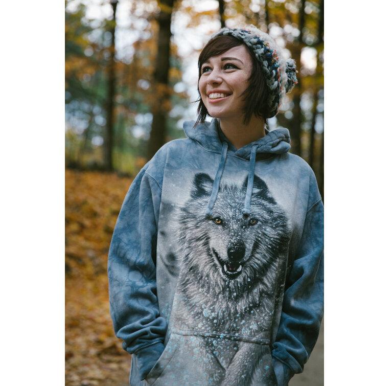 Sleva Mikina s kapucí Bílý vlk ef765b9bb9