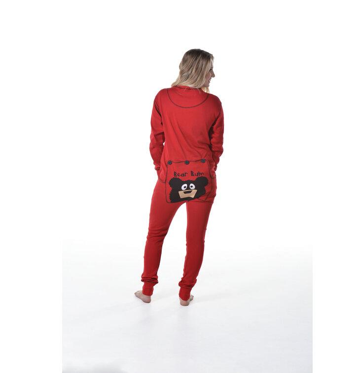 Lifestyle fotó Piros kezeslábas pizsama Medve mancs 13e3dbc6bd