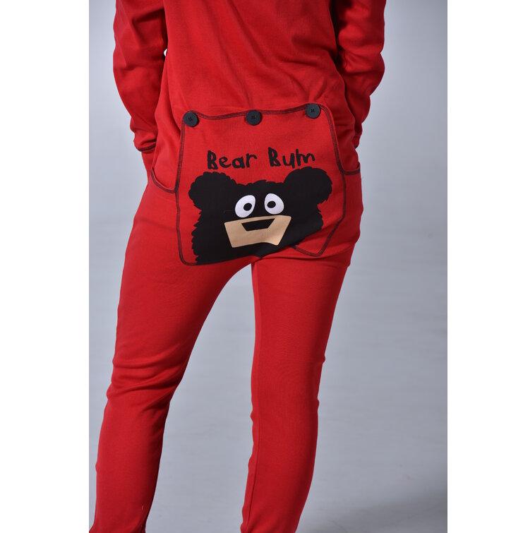 Eredeti ajándék a Dedolestől Piros kezeslábas pizsama Medve mancs 103e4046d1