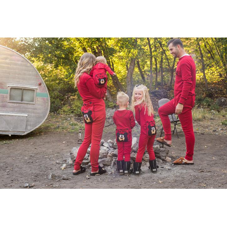 Kedvezmény Piros kezeslábas pizsama Medve mancs. Ajándék tipp ... 411c21c513