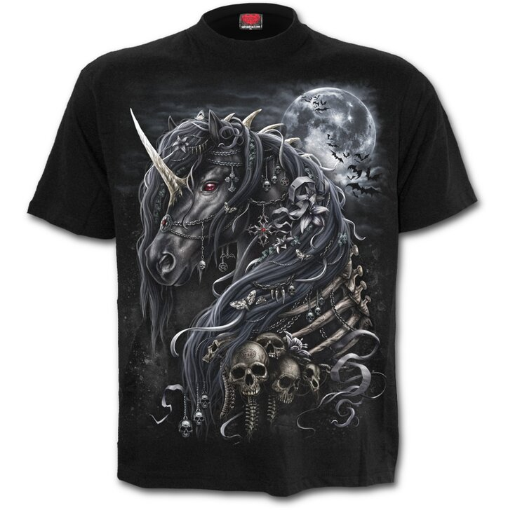 T-Shirt with Short Sleeve Dark Unicorn