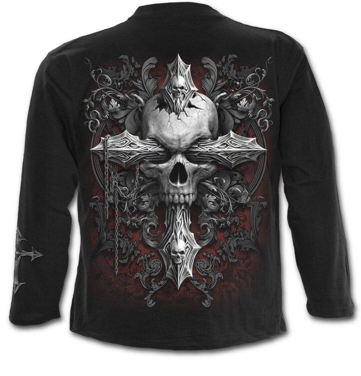 0cba9ebb9981 Výnimočný darček od Dedoles Pánske tričko s dlhým rukávom Kríž temnoty