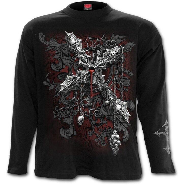 27b07971171f Hľadáte originálny a nezvyčajný darček  Obdarovaného zaručene prekvapí Pánske  tričko s dlhým rukávom Kríž temnoty