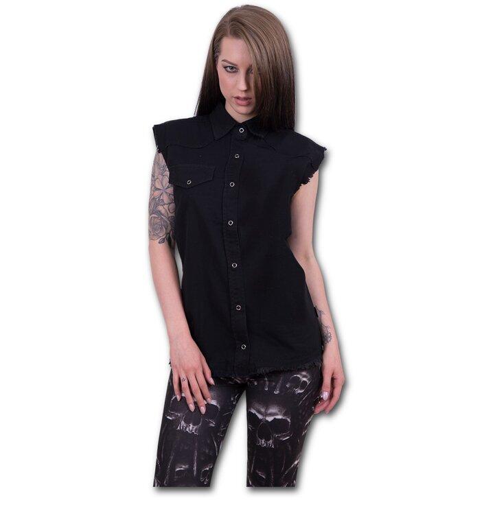 Potěšte se tímto kouskem Dedoles Dámská košile bez rukávů Černá c52dcea570