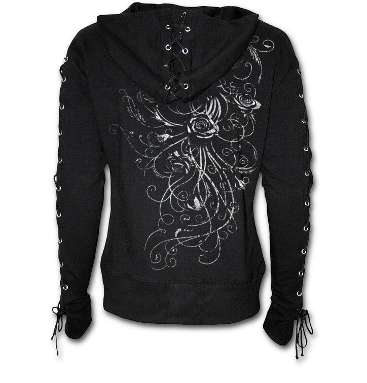 pro dokonalý a originální outfit Dámská mikina s vázáním Záhon růží 985e054435