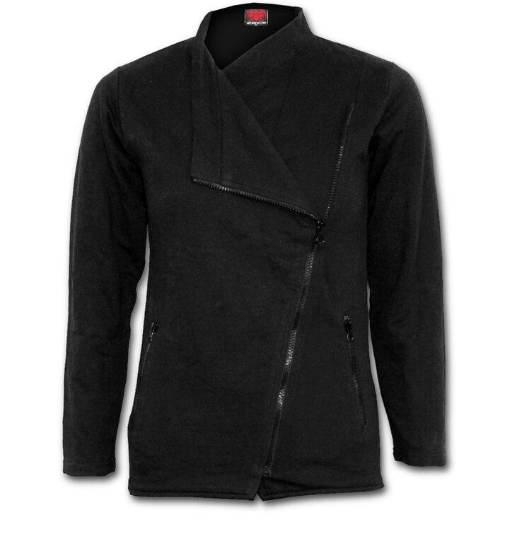 Dámská tepláková bunda na zip Černá