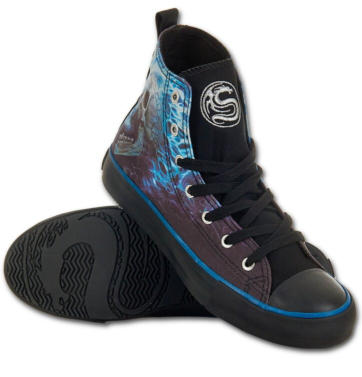 Kék láng Női fekete tornacipő