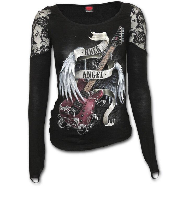 4eeef157ea Csipkés női póló Mennyei zene Női póló csipkés vállú | Dedoles