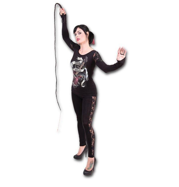 227fd15d67 Szerezzen magának örömet ezzel a Dedoles darabbal Csipkés női póló Mennyei  zene Női póló csipkés vállú