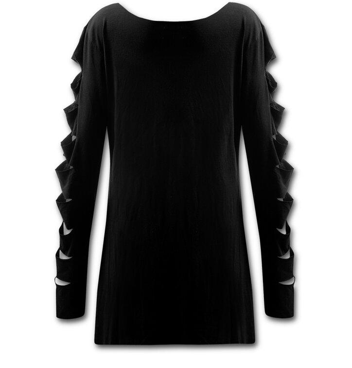 Lifestyle fotó Fekete Női hosszú ujjú pulóver 1f94ba816b