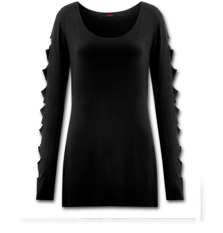 Foto Fekete Női hosszú ujjú pulóver 4747cb2e9e
