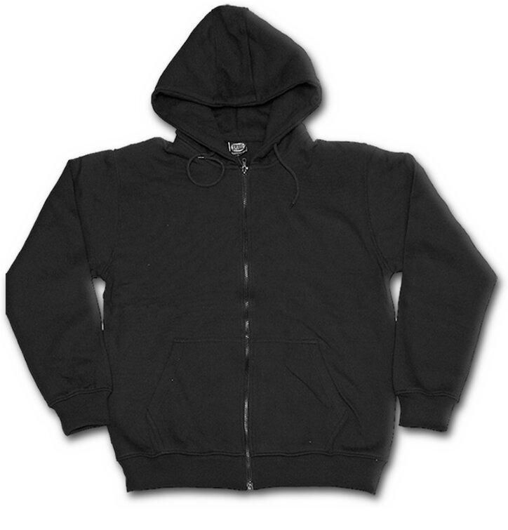 Mikina s kapucňou na zips Čierna