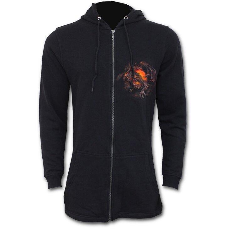 Men's Longer Zip Sweatshirt Dragon Guardian