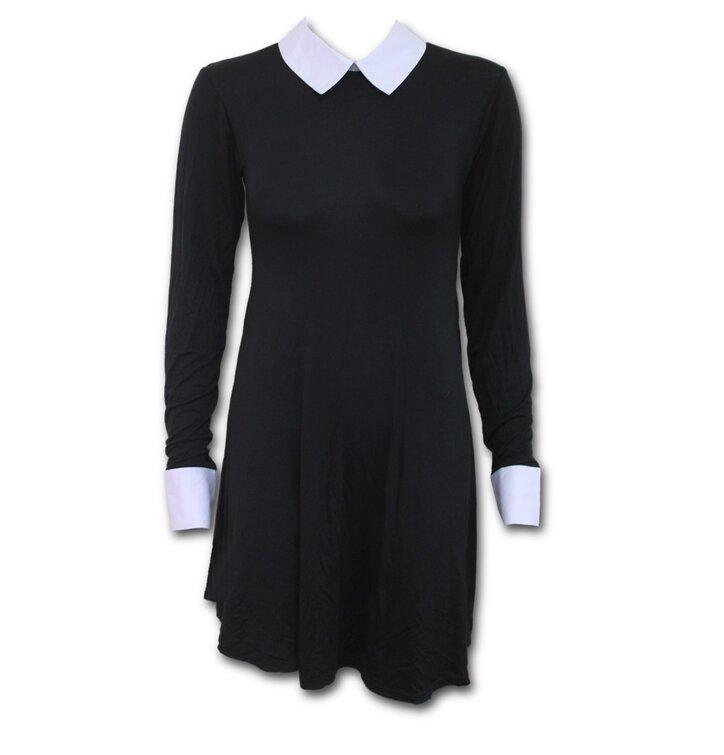Tip na darček Dámske šaty s golierom Basic 28b91e91e35