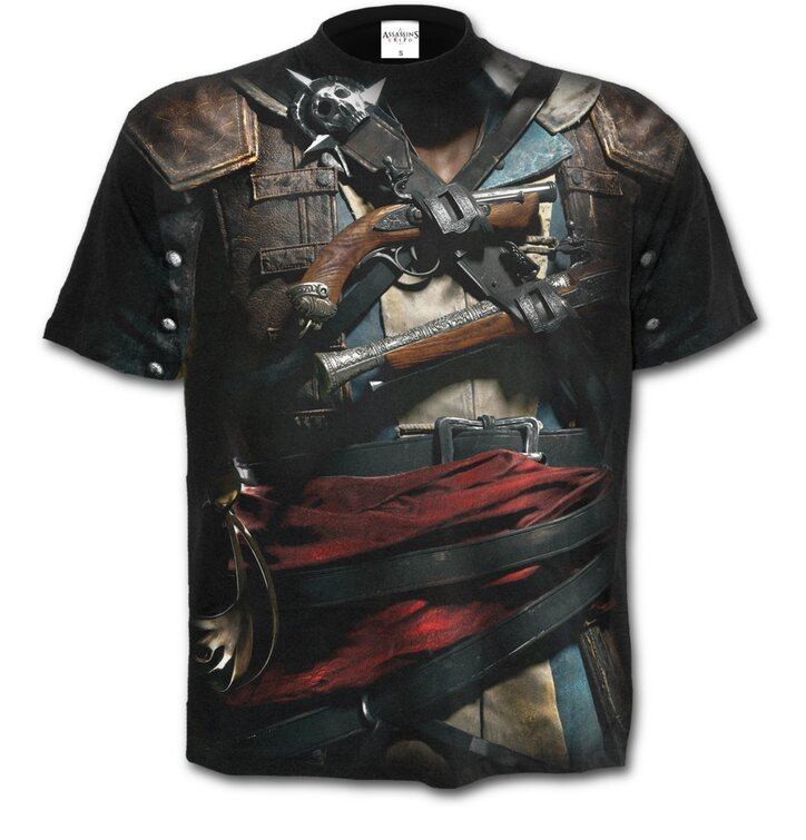 Tricou Cu motiv Assassins Creed Black Flag