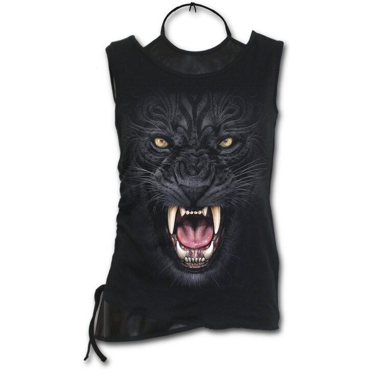 Ladies' Tank Top 2in1 with design Angry Panther