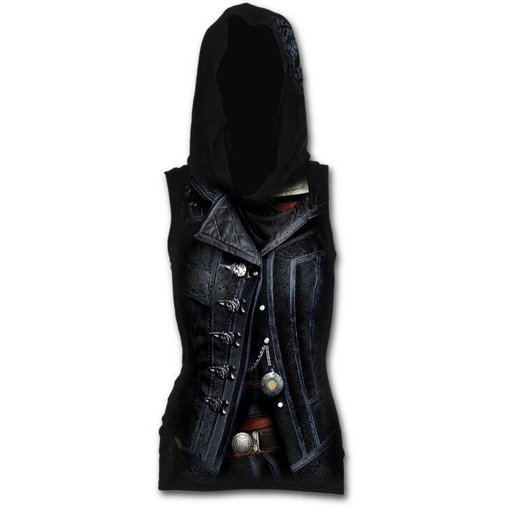 Dámské tílko s kapucí s motivem Assassins creed Syndicate Evie