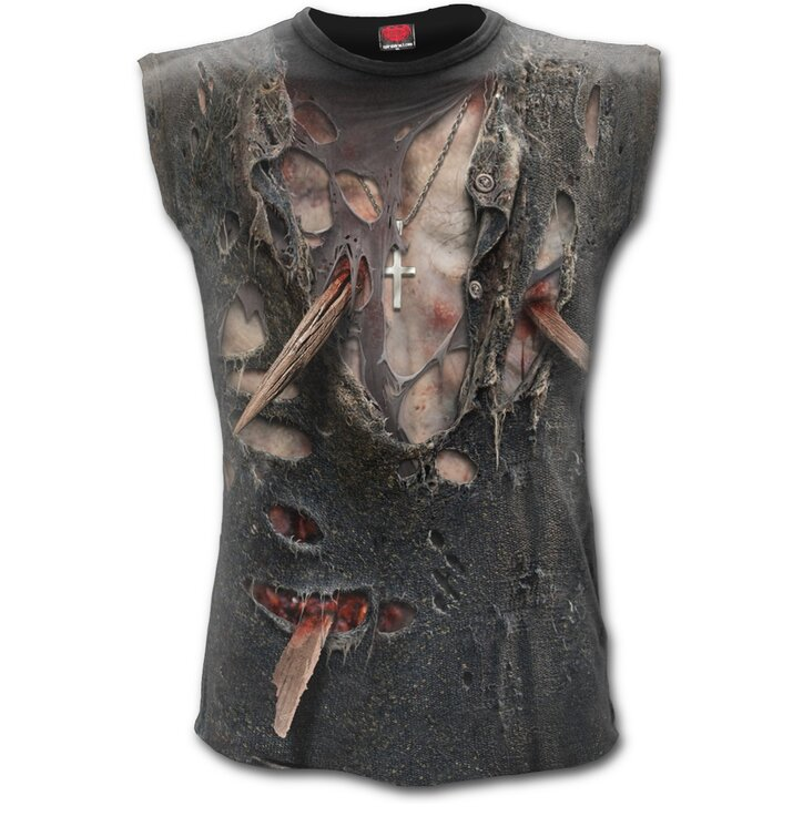 Men's Printed Tank Top with design Zombie Body