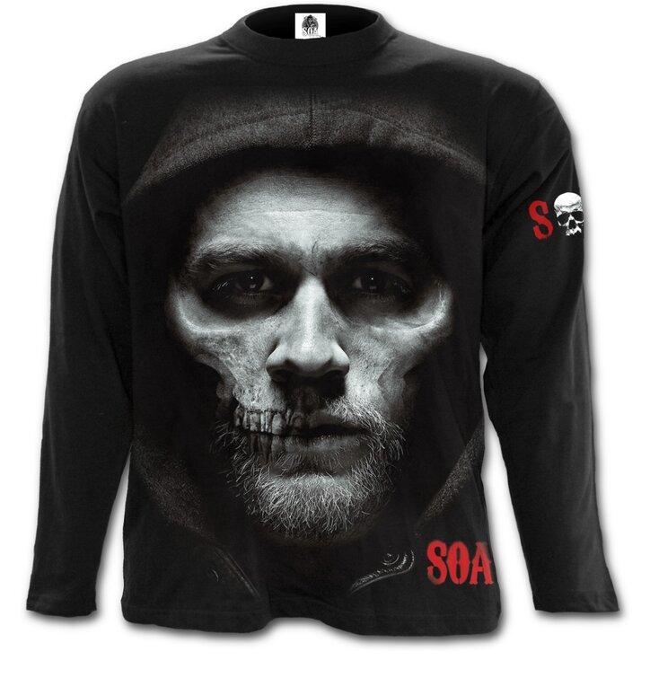 Langärmliges T Shirt Mit Dem Motiv Sons Of Anarchy Halb Schädel