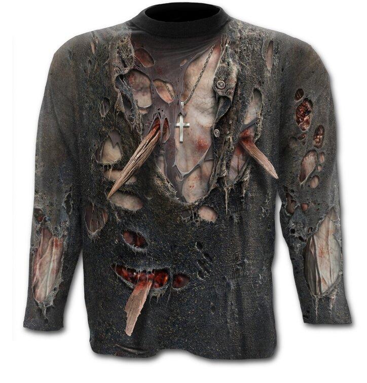 Dlhý rukáv s motívom Zombie telo
