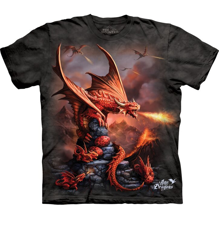 T-shirt with Short Sleeve Attack of Dragons