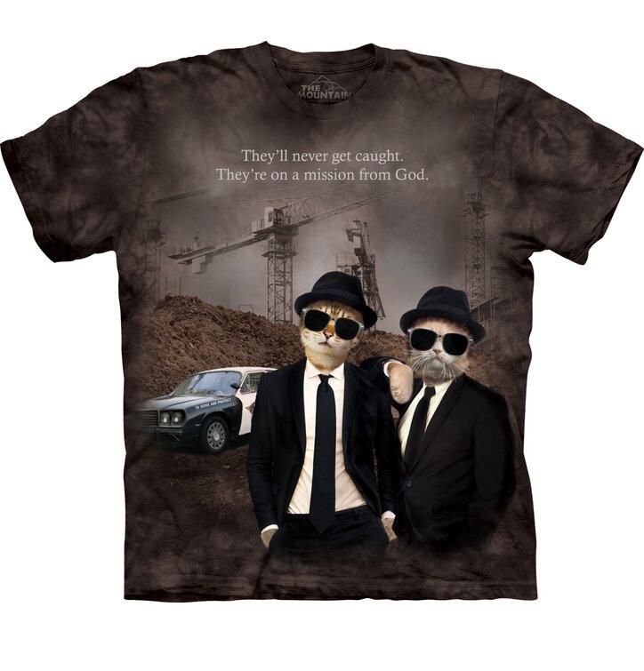 Tričko s krátkým rukávem Kočky The Blues Brothers