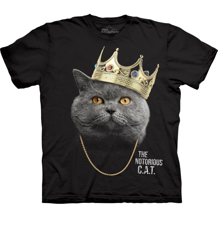 T-shirt with Short Sleeve Cat The Notorious