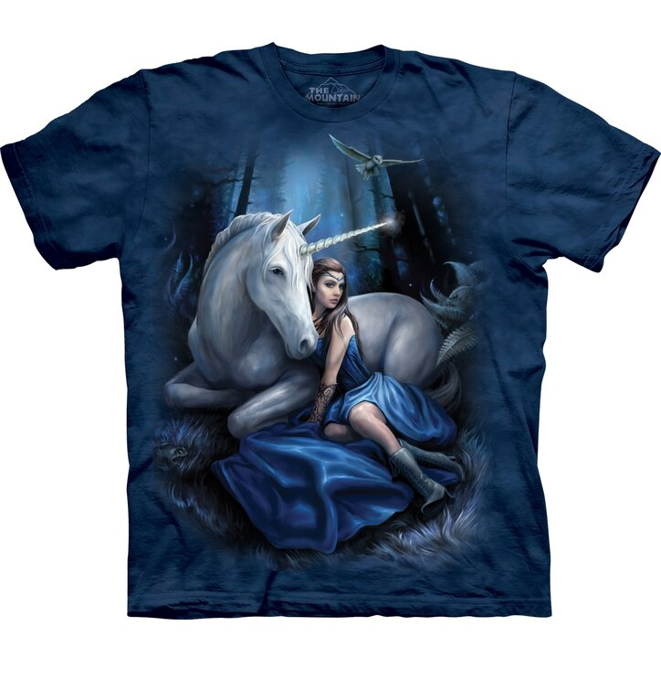 T-shirt with Short Sleeve Forest Fairy and Unicorn