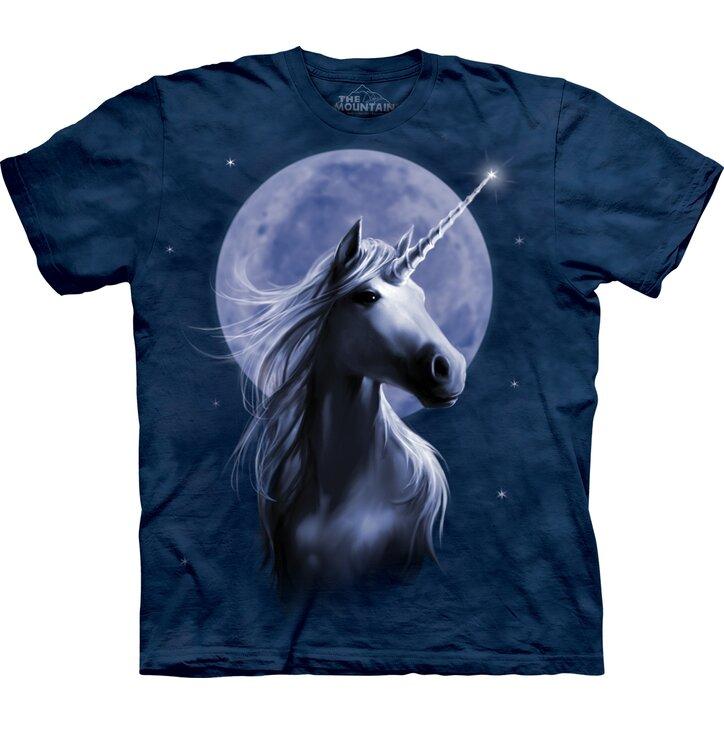 Rövid ujjú póló Egyszarvú a holdfényben