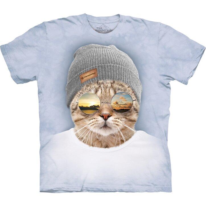 Tričko s krátkým rukávem Cool hipster kočka