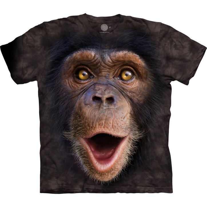 3D T-Shirt Überraschter Schimpanse