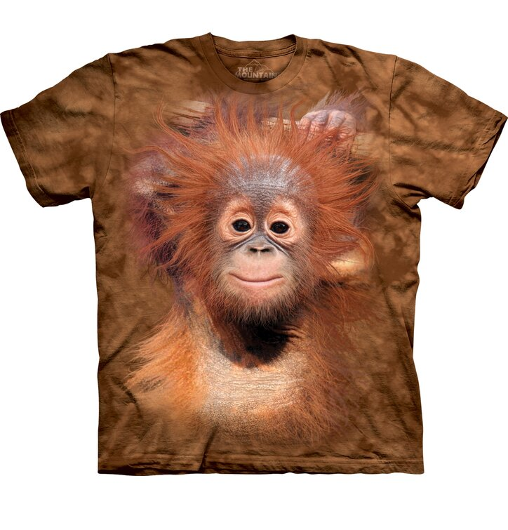 T-shirt with Short Sleeve Baby Orangutan