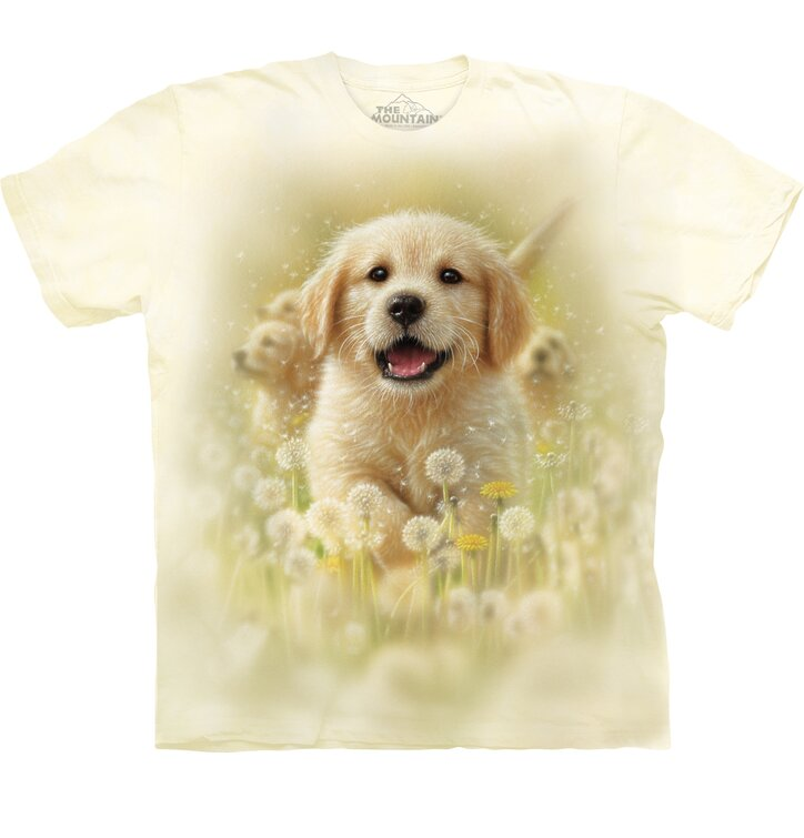 T-shirt with Short Sleeve Golden Retriever Puppy