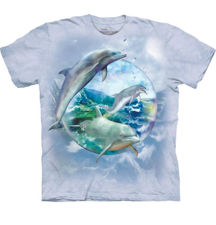 Tričko s krátkym rukávom Delfíny v bubline