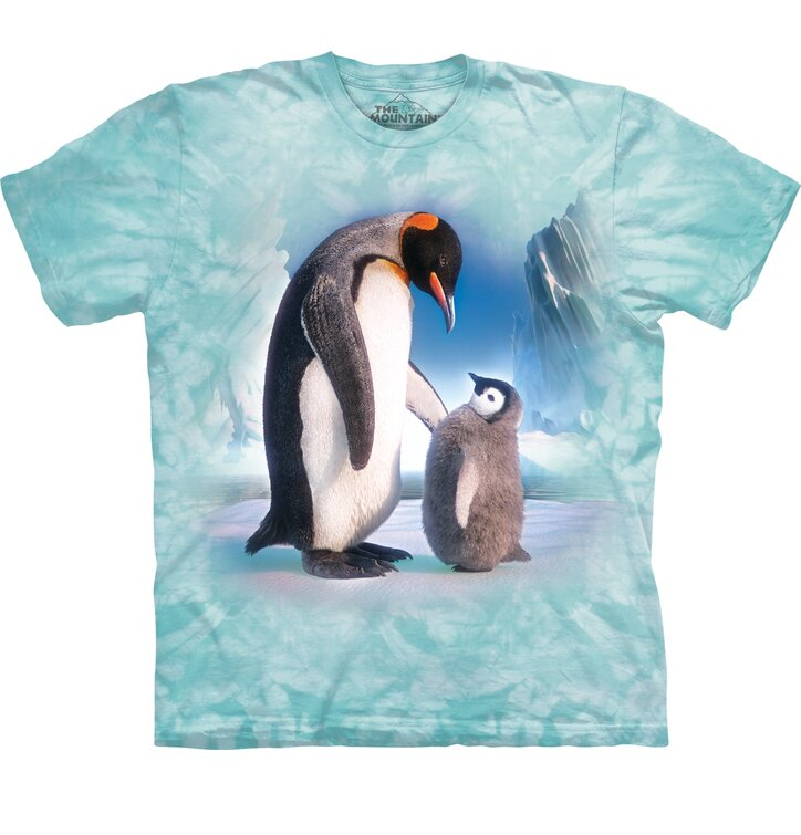 Tricou cu mânecă scurtă Pinguinii pe ghețar