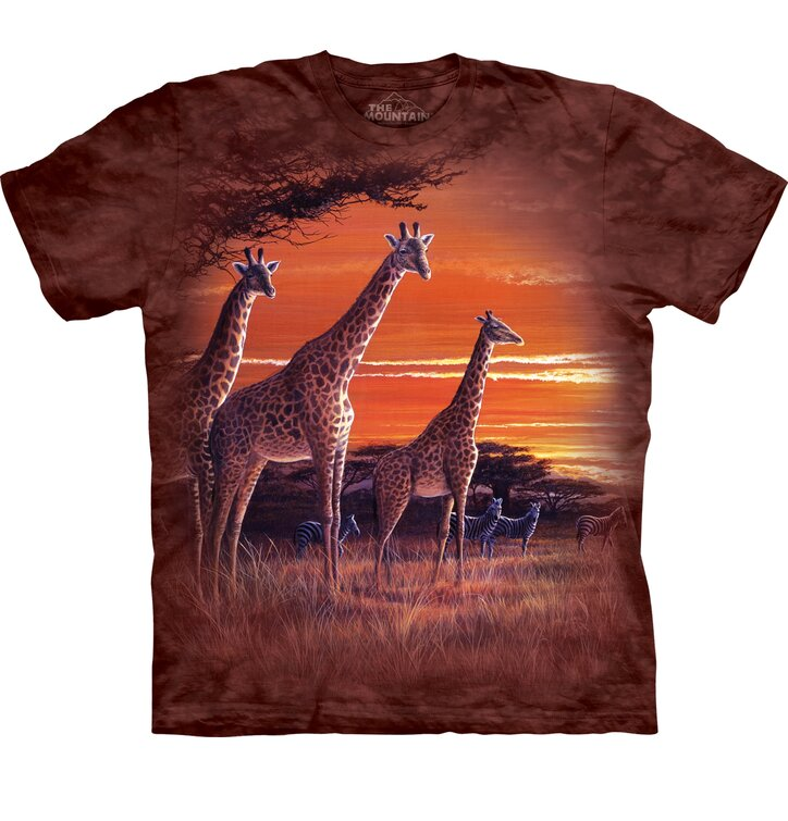 T-shirt with Short Sleeve Giraffes in Savannah