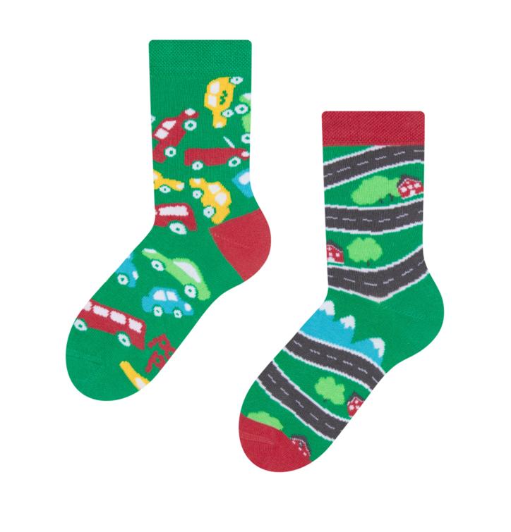 Detské veselé ponožky Autíčka