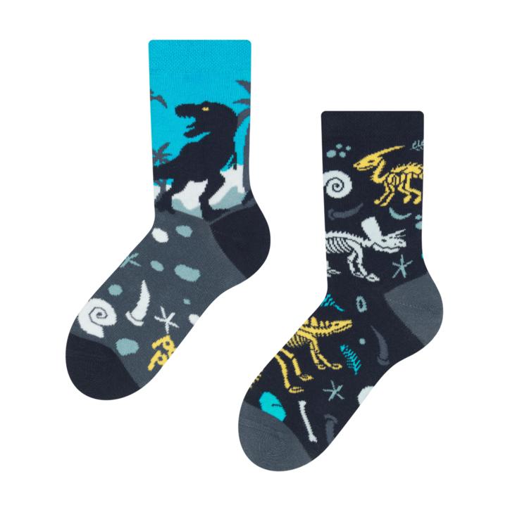 Detské veselé ponožky Dinosaury